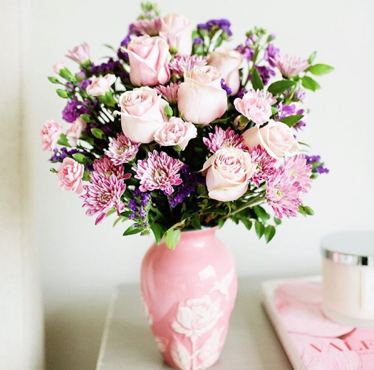 Pretty pink flowers - styled by @emilyjacks