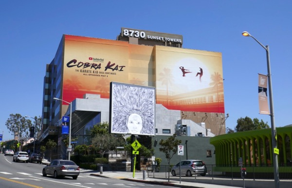 Cobra Kai YouTube Red series billboard