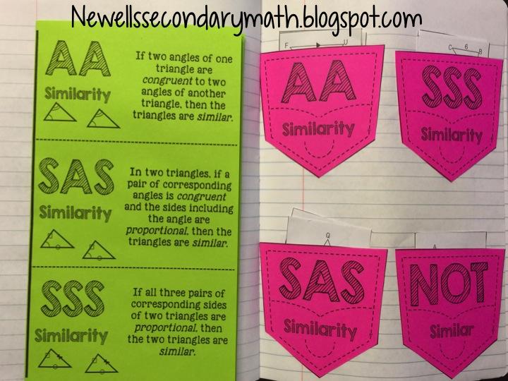 Similar Triangles Foldable Mrs Newells Math