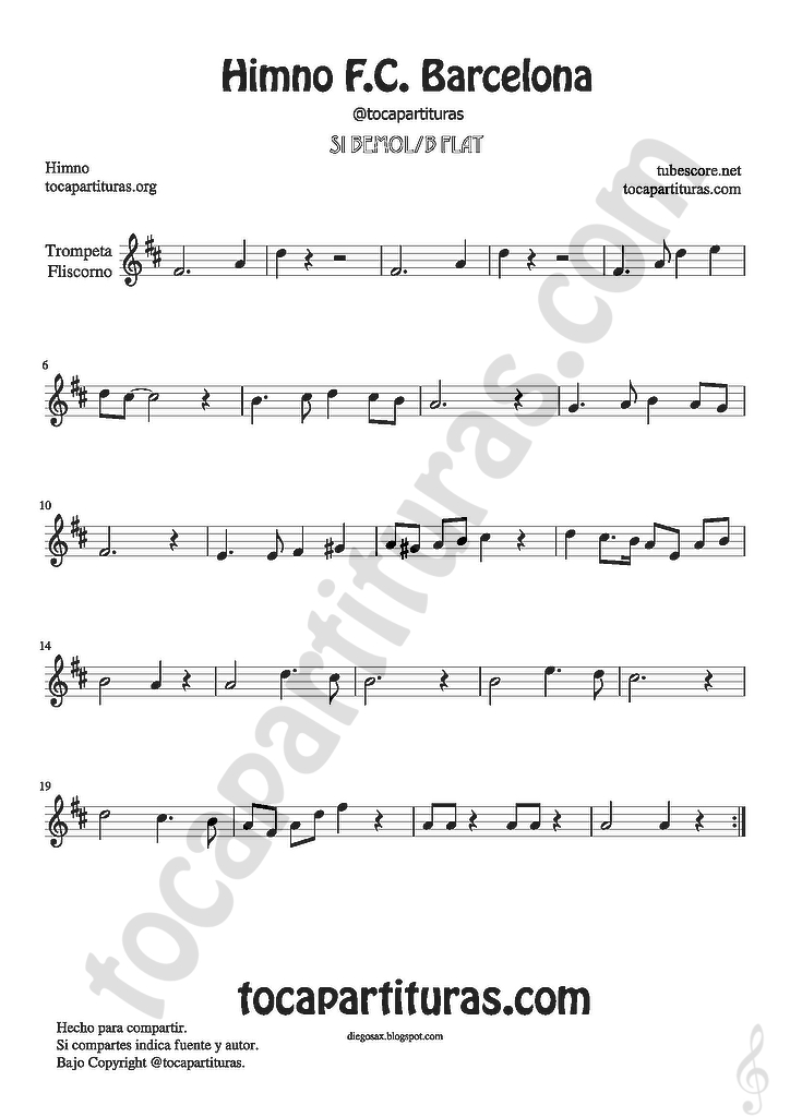All Music Chords las mananitas trumpet sheet music : diegosax: mayo 2016