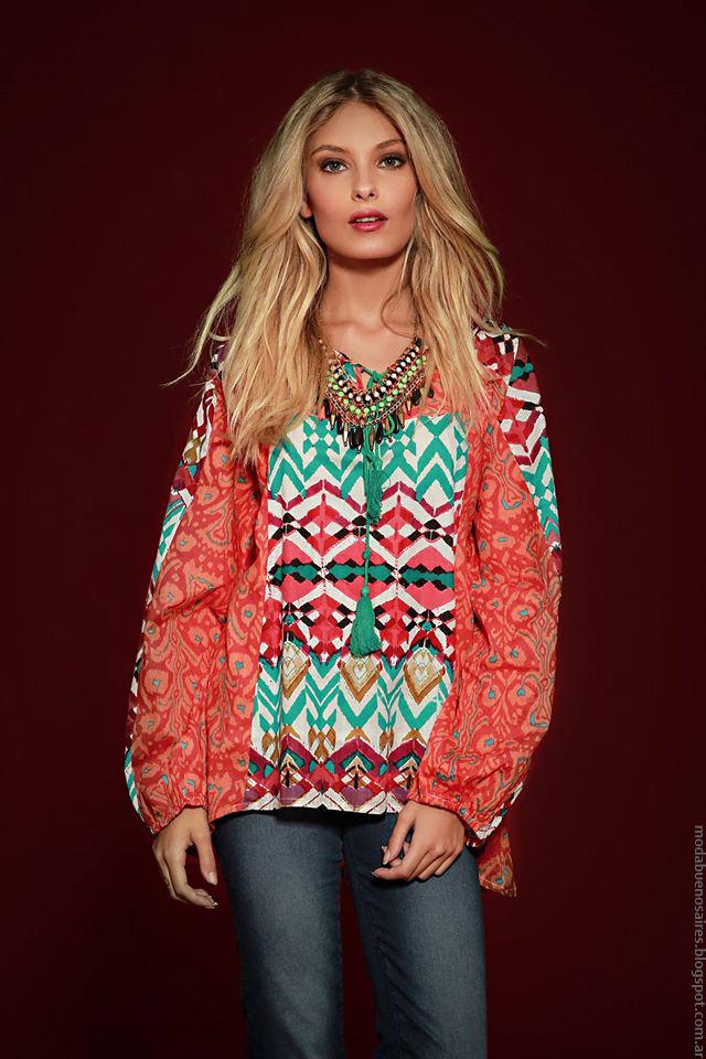 Túnicas y blusas de moda invierno 2016 ropa de mujer. Moda invvierno 2016 Sophya.