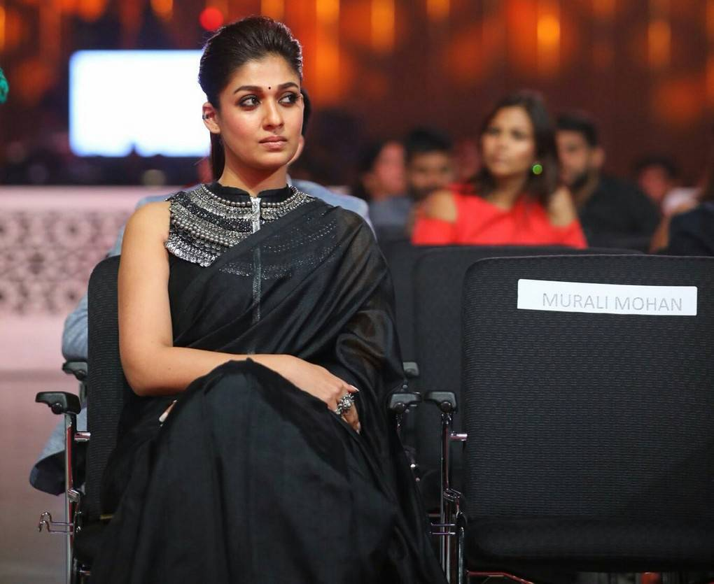 Actress Nayanthara Photos At SIIMA Awards 2017 In Black Saree