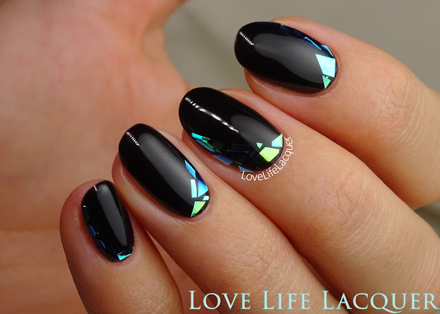 Mosaik foil nail art
