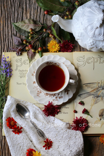 September Tea/Garden Journal: The Charm of Home
