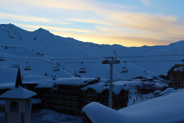 View from Hotel Tango - Skiing at Val Thorens - ski holiday in the French Alps - travel blog