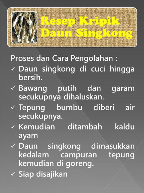 Resep Keripik Singkong