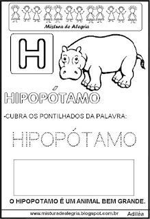 Bichonário desenho de hipopótamo