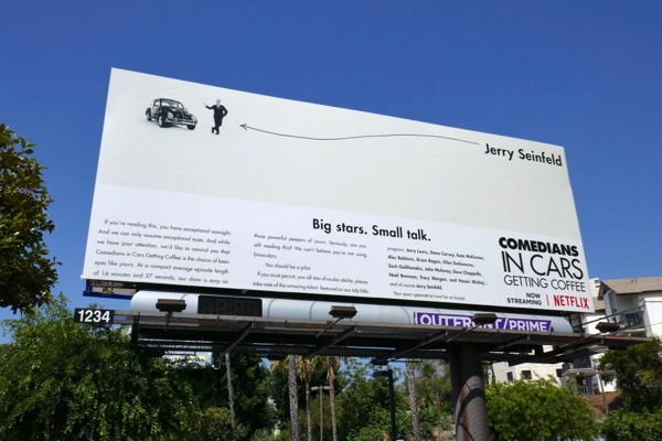 Jerry Seinfeld Comedians in Cars Getting Coffee season 10 billboard