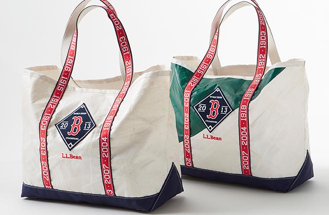 Shop: L L  Bean Red Sox Tote | Pop Bop Shop