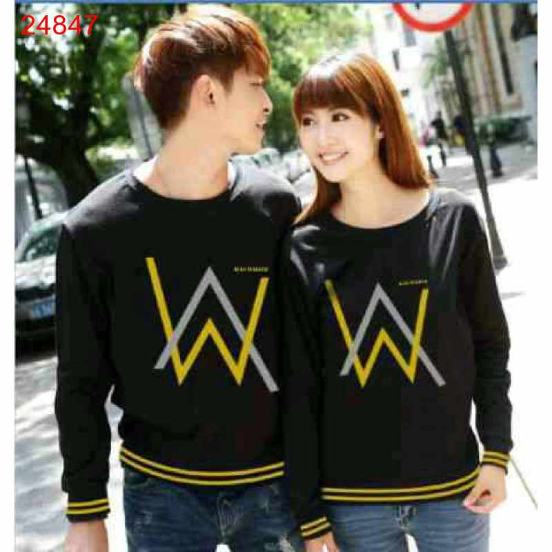 Jual Sweater Couple Sweater Alan Walker Rajut Black - 24847