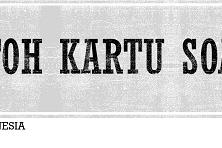 Contoh Kartu Soal Bahasa Indonesia, Materi Observasi dan Debat