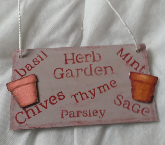 Parsley, Sage , Rosemary and Thyme - herb garden wall plaque