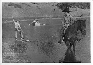 Baldpate Inn Lily Lake skiing via horsepower