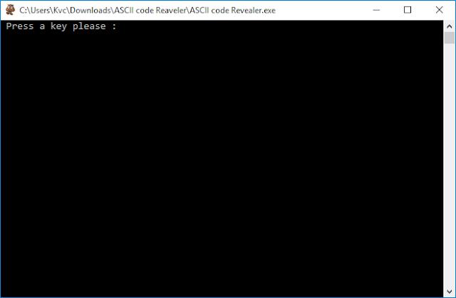 ASCII Code Revealer Ver.1.0 | By Kvc