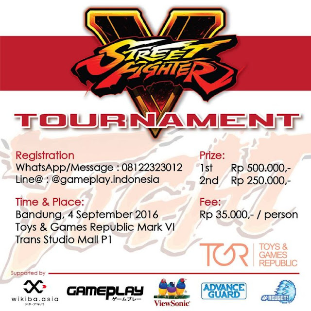 Event Bandung - Street Fighter V Tournament Trans Studio Mall