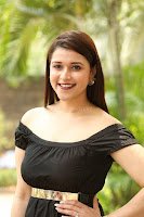 Mannara Chopra in Short Off Shoulder Black Dress ~  Exclusive 055.JPG