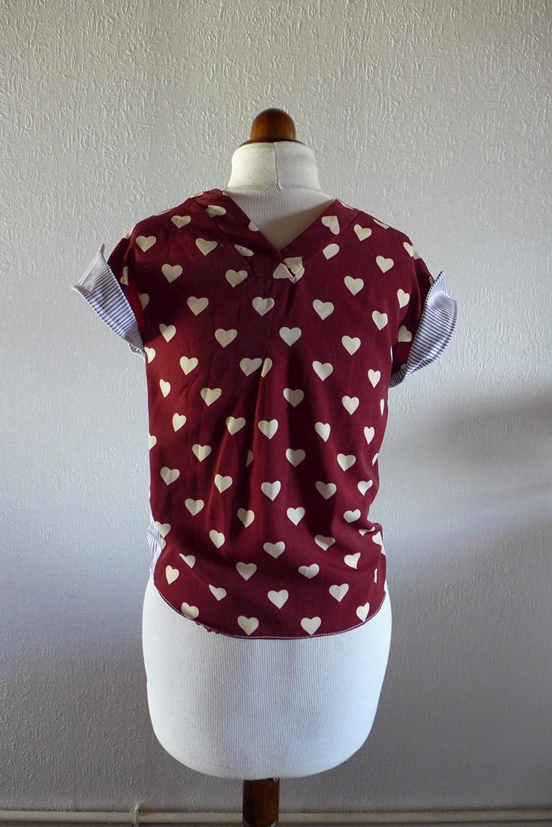 diy chemise résultat couture