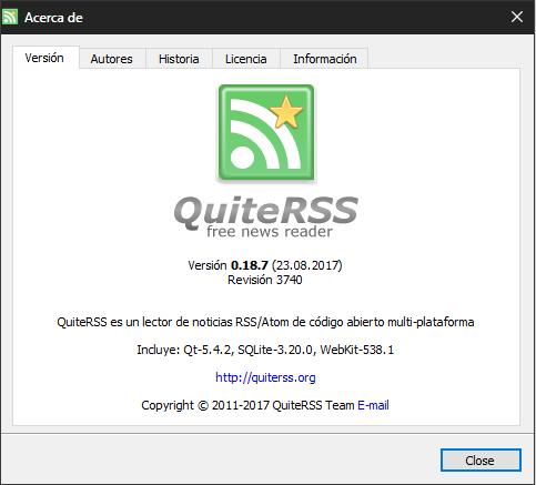 QuiteRSS: un excelente lector de noticias RSS se actualiza - El Blog de HiiARA