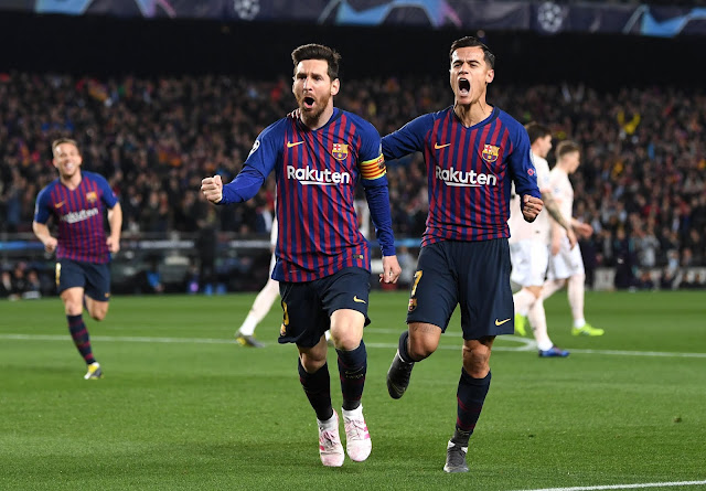 Lionel Messi Philippe Coutinho FC Barcelona Vs Manchester United