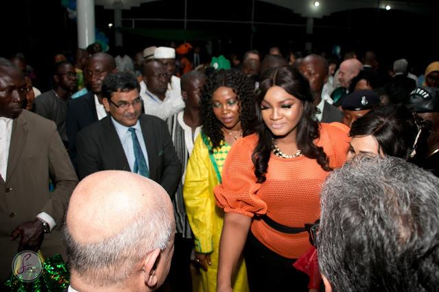 Omotola in Sierra Leone for the President