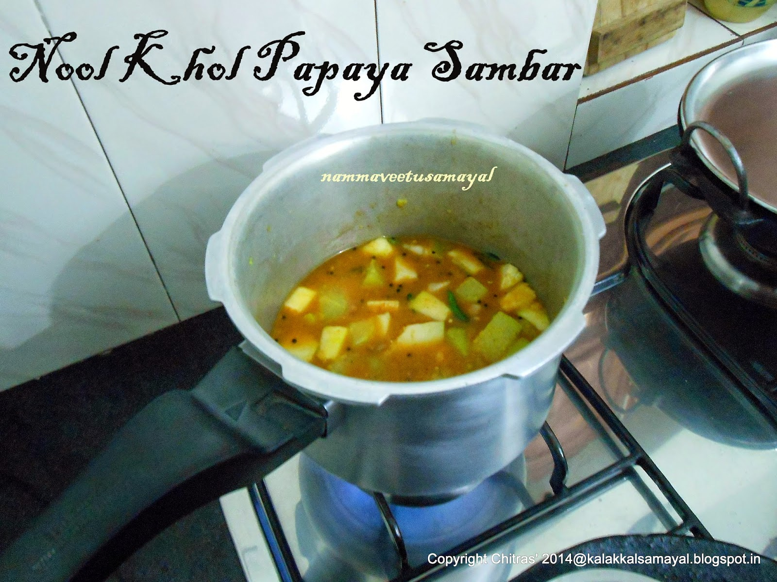 Noolkhol Papaya Sambar