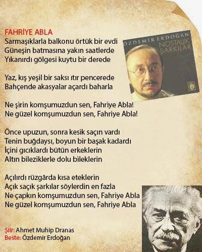 Fahriye Abla Şiiri