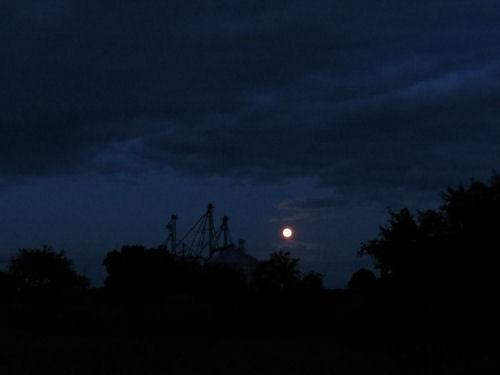 deep blue sky with moon