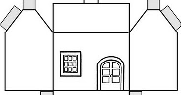 Molde De Casa Caixa Para Imprimir Espaco Educar Desenhos Pintar