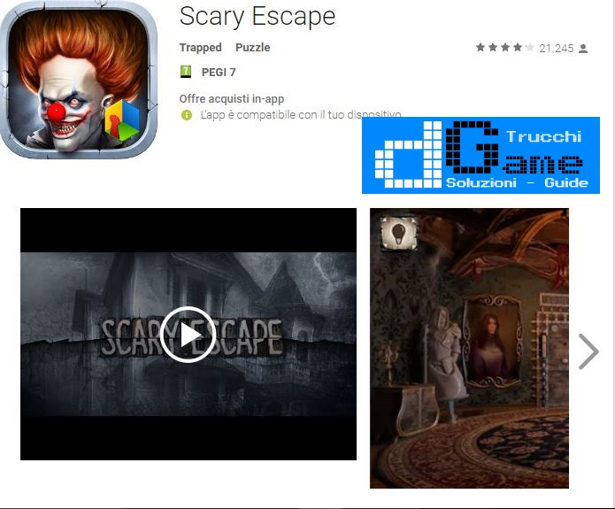 Soluzioni Scary Escape  livello  1  2  3  4  5  6  7  8  9 10 | Trucchi e  Walkthrough level