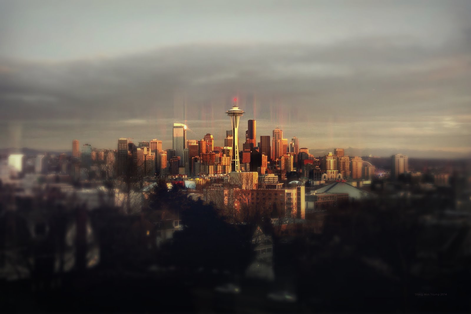 Seattle on Edge of Dusk