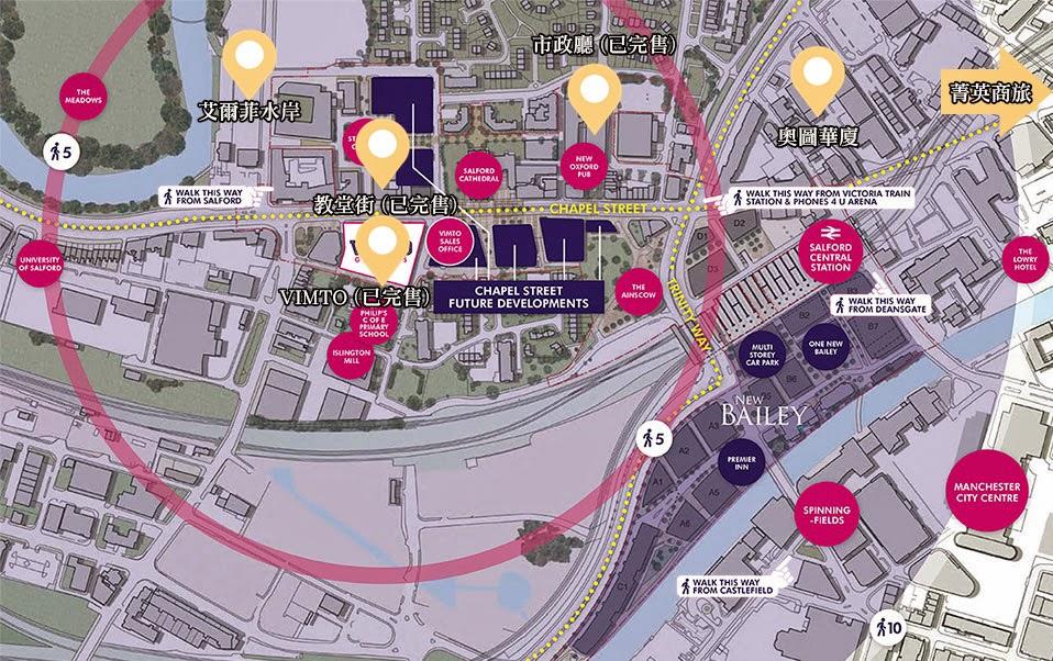 英國曼徹斯特房地產地圖