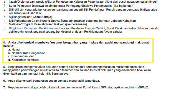 Haihayahai Persediaan Temuduga Spa Resume