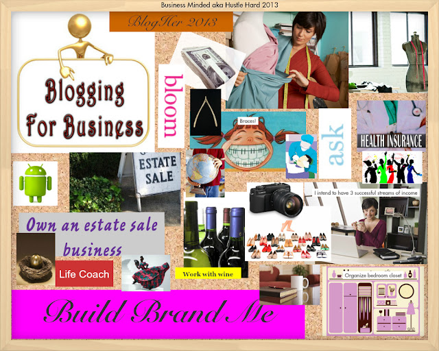 Digital vision board created with Oprah dream board
