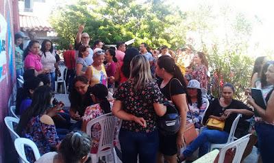 Servidores de Chapadinha reunidos na sede do sindicato