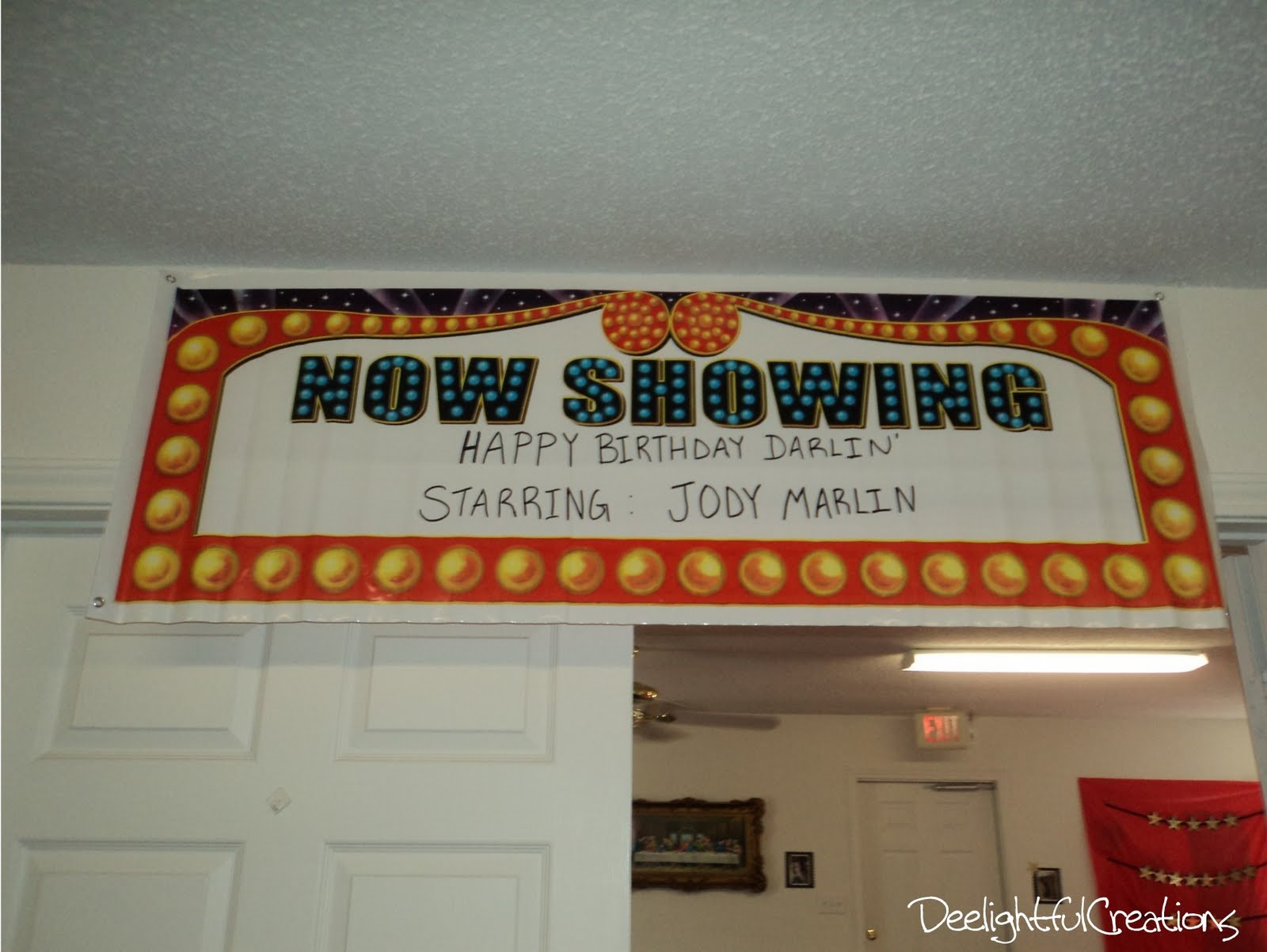 Deeliteful Creations Now Showing Movie Themed Birthday Party