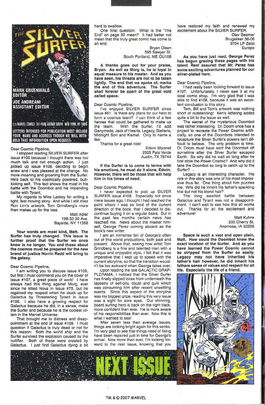 Read online Silver Surfer (1987) comic -  Issue #111 - 34