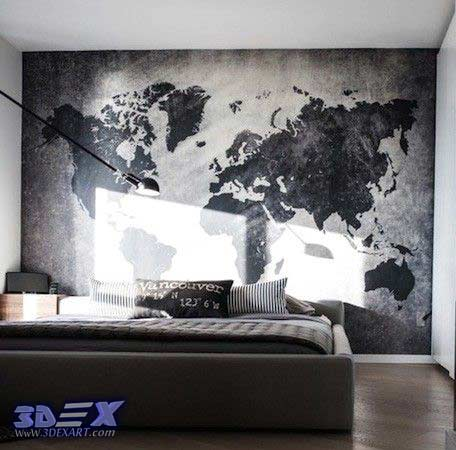 How to make world map decor and art for your interior design world map wall decor world map wall art world map wallpaper and murals gumiabroncs Gallery