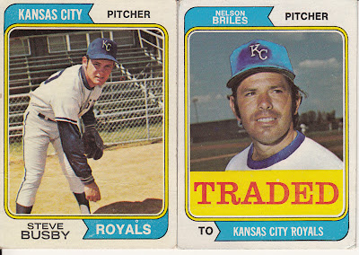 923c1bd4a7 1974 Topps Steve Busby and Nelson Briles (Traded)