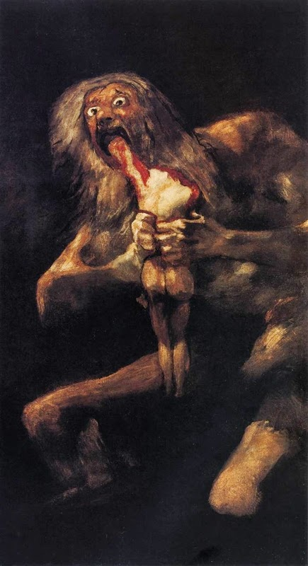 10 Out Of The Most Beautiful Paintings Of All Time - Saturn Devouring His Son by Francisco Goya (1819-1823)