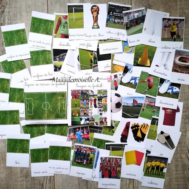Cartes de nomenclature Football - Maaademoiselle A. Shop
