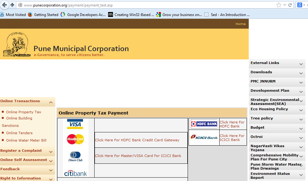 Information on Water Bill Status and Payment online: Pune