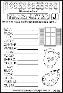 Trocando letras e formando palavras
