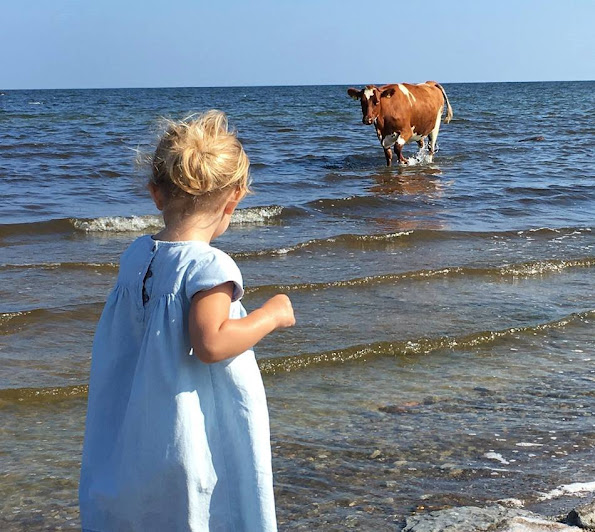 Princess Madeleine and Princess Leonore a new photos on holiday in ‎Öland‬