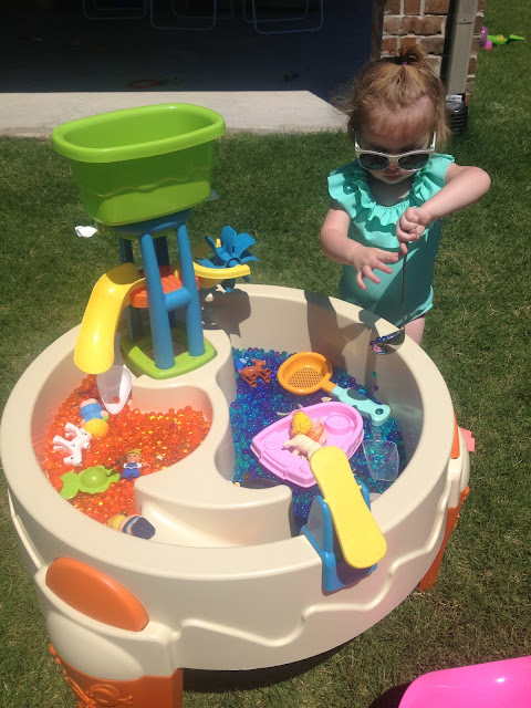 Outside Sensory Play and Playroom Update