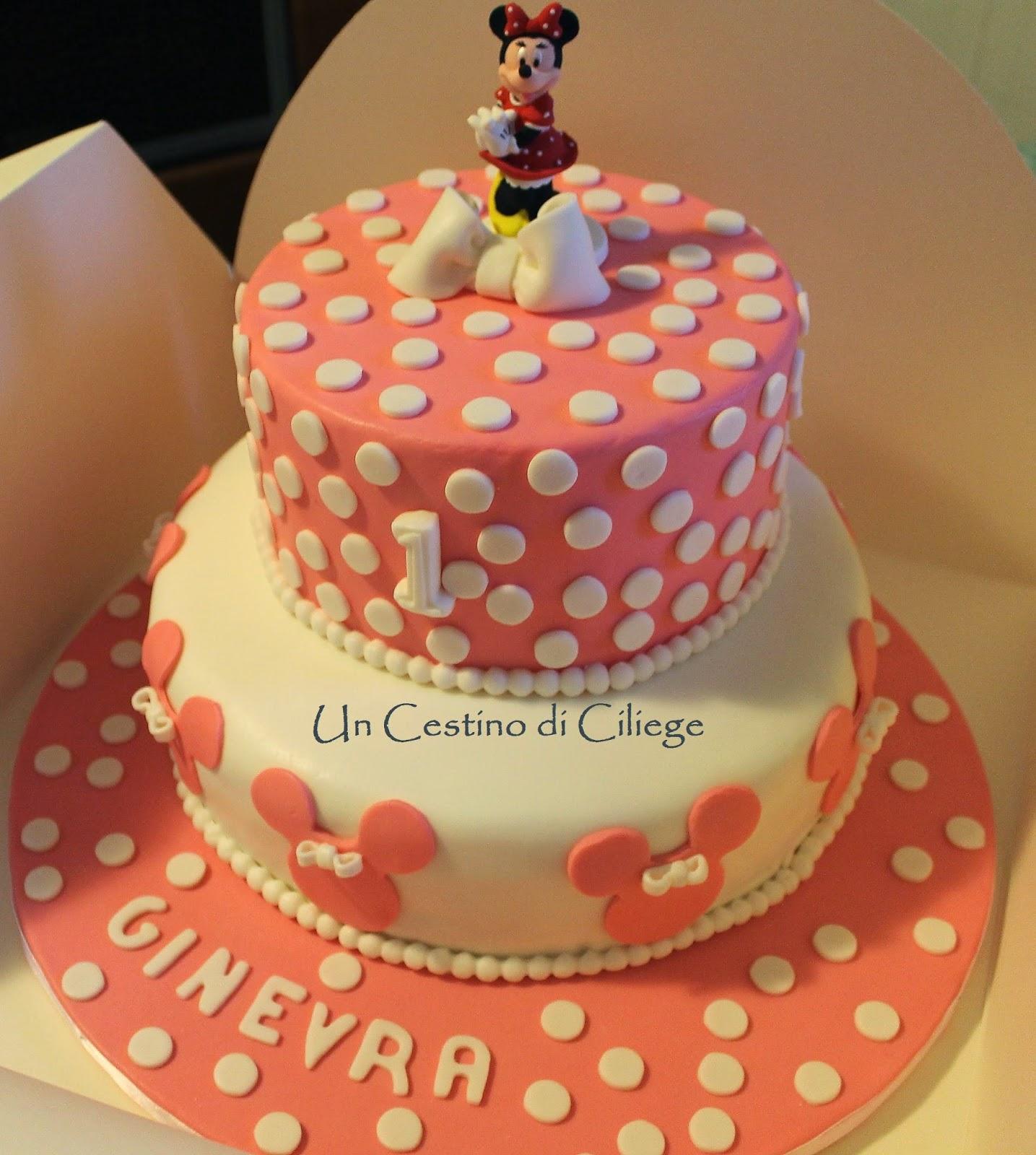 Fotografia della Torta Minnie per Ginevra dal blog Un cestino di ciliege
