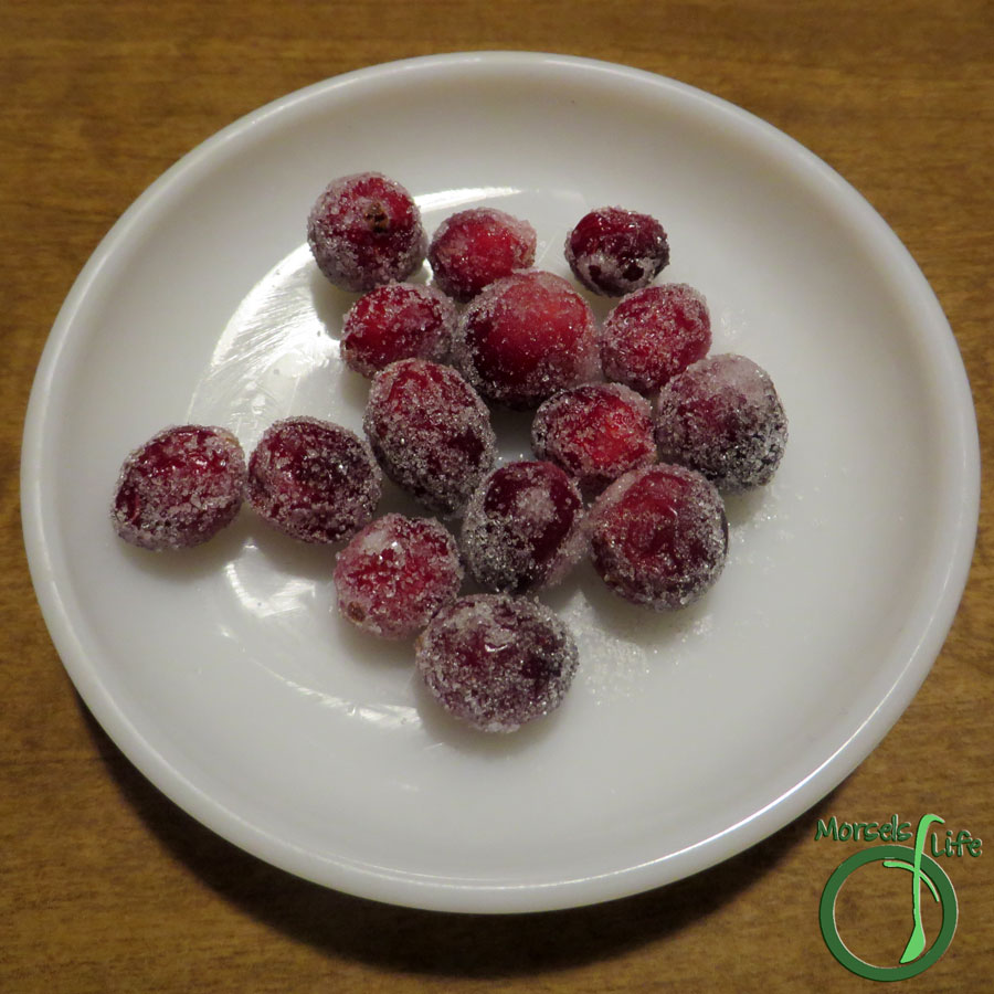 Morsels of Life - Sugared Cranberries - Find out how to make sugared cranberries - perfectly sweetened and sparkling ruby jewels. It's easier than you think!