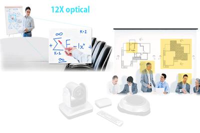 Khả năng zoom 12x của AVer VC520