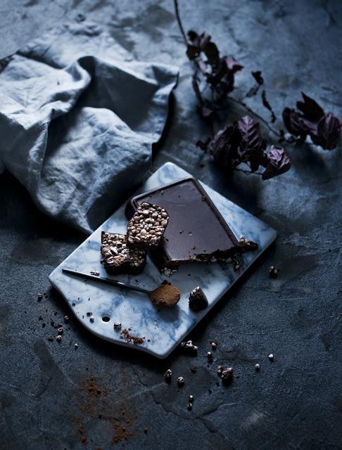 wegańska kokosowa czekolada z chrupkami