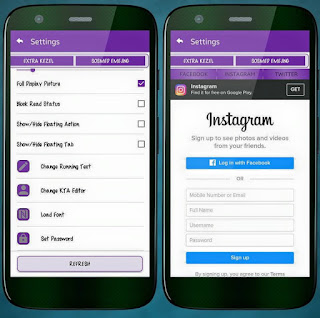 BBM Mod Purple Theme v3.1.0.13 Apk