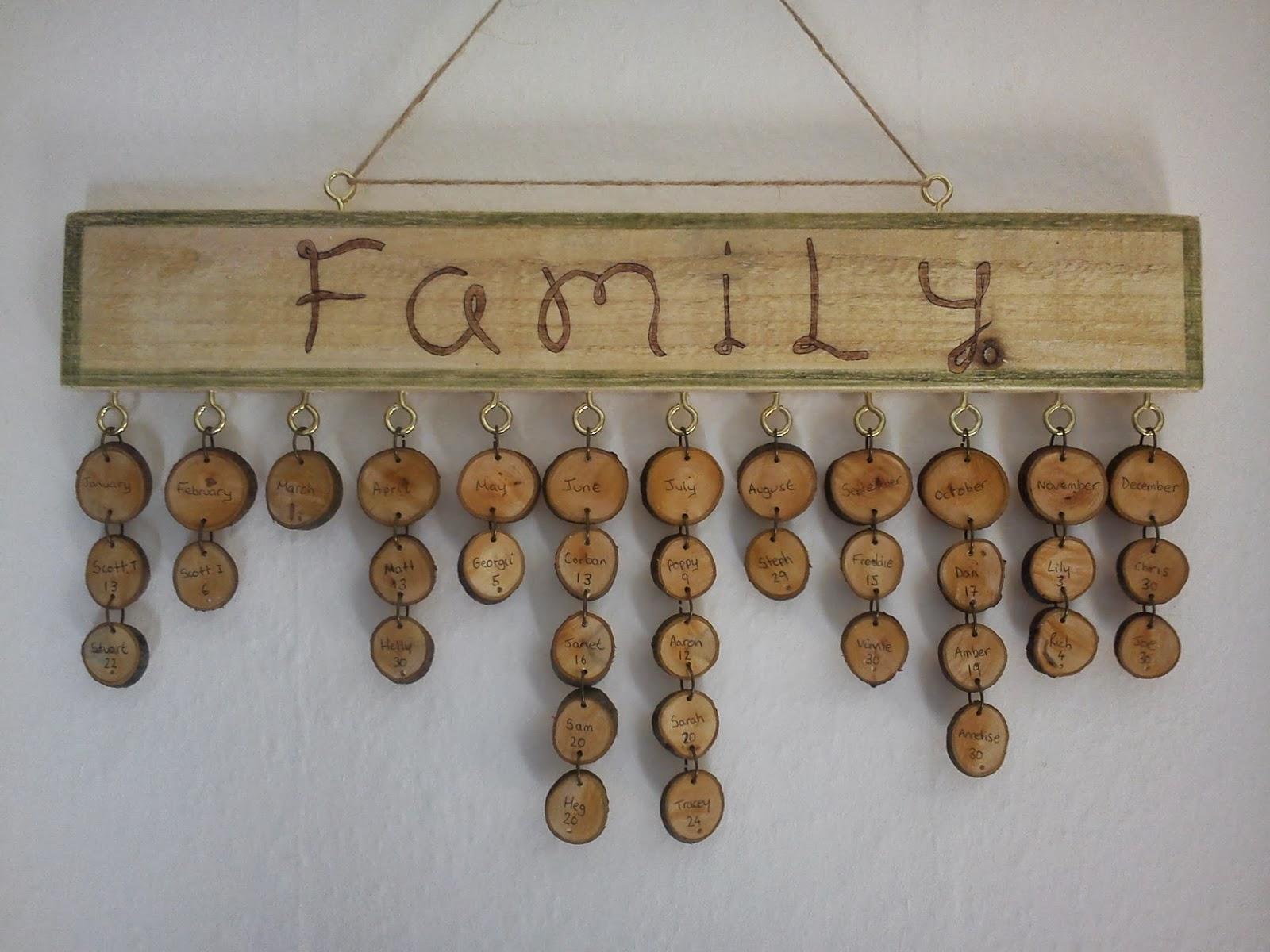 Stuart Taylor 3d Wooden Memory Family Birthday Calendar